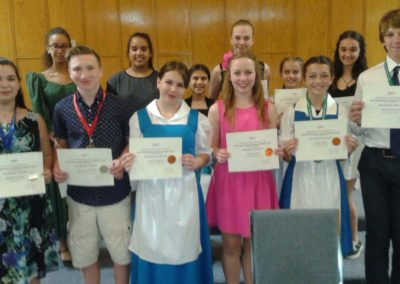 Music Theatre Participants with certificates